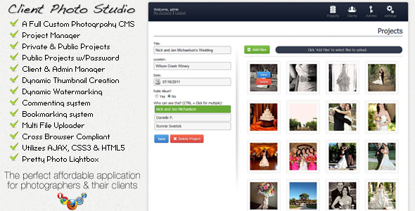 Client Photo Studio - Photography CMS - CodeCanyon Item for Sale