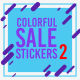 Colorful Sale Stickers Pack 2 - VideoHive Item for Sale