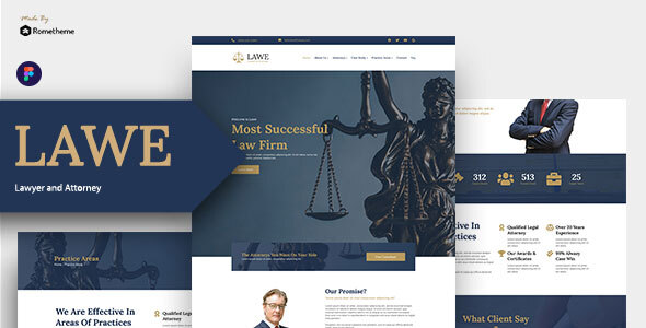 LAWE - Lawyer and Attorney Figma Template