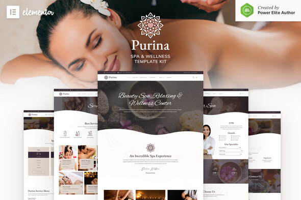Purina - Spa & Wellness Elementor Template Kit