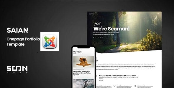 Saian - Creative Portfolio Joomla Template