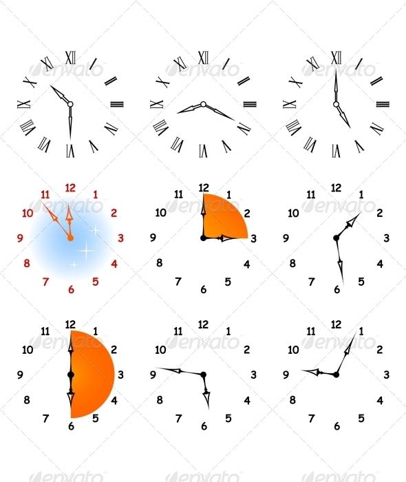 Set hours. - Vectors