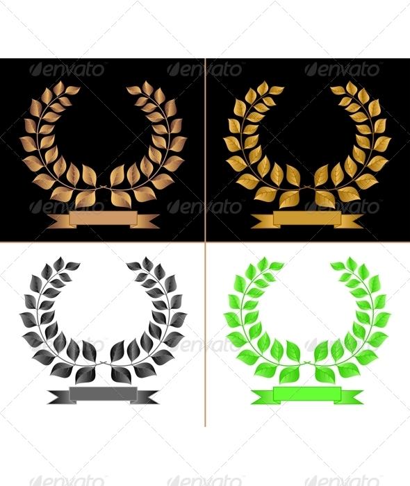 Laurel chaplets. - Decorative Symbols Decorative