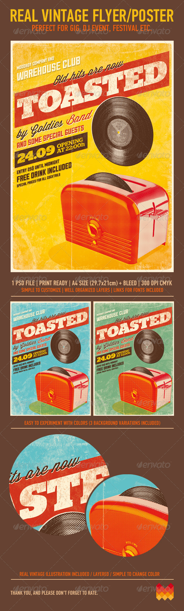 Toasted - Vintage Poster - Events Flyers