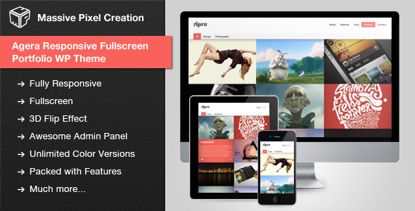 Agera Responsive Fullscreen Portfolio WP Theme - Portfolio Creative