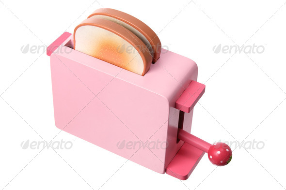 Toy Wooden Toaster - Stock Photo - Images