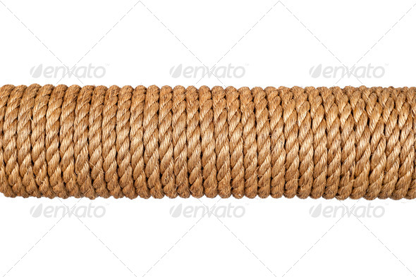 Spool of rope - Stock Photo - Images