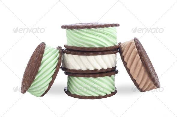 Ice cream sandwiches - Stock Photo - Images