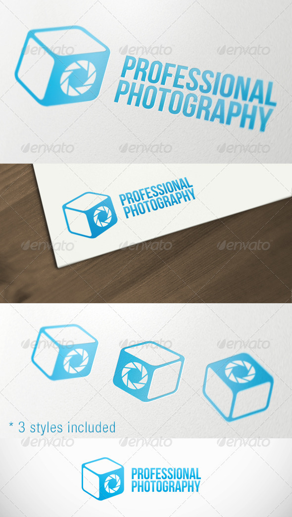 Photography Box Studio Premium Logo Template - Objects Logo Templates