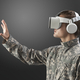 Military man with VR headset in training military technology - PhotoDune Item for Sale