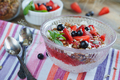 Dessert with Fresh Berries, Cottage  Cheese, Granola and Berries Jam - PhotoDune Item for Sale