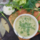 Bowl of green cream soup - PhotoDune Item for Sale