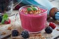 Blackberry and Raspberry Smoothie, Detox Yogurt or Milkshake - PhotoDune Item for Sale
