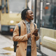 Handsome Afro American man in a autumn city - PhotoDune Item for Sale