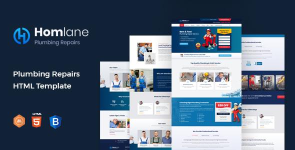 Homlane – Plumbing HTML Template