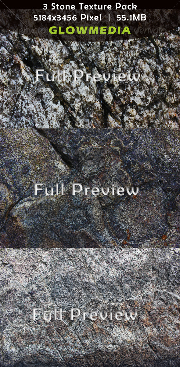 3 Stone Texture Pack - Stone Textures
