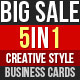 Creative Business Cards Bundle - GraphicRiver Item for Sale