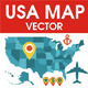 USA map vector - GraphicRiver Item for Sale