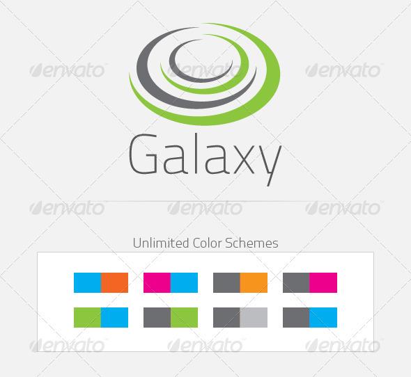 Galaxy Logo Design - Abstract Logo Templates