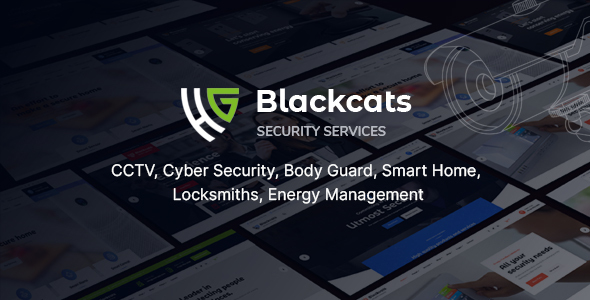 Blackcats - CCTV & Security HTML Template