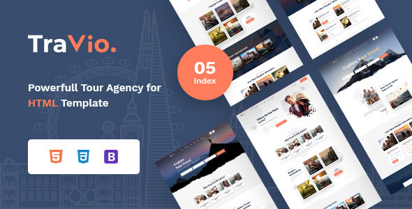 Travio – Tour & Travels Agency Template