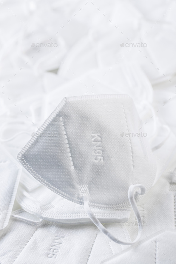 KN95 face mask. FFP2 mask as covid-19 protection. Coronavirus mask - Stock Photo - Images