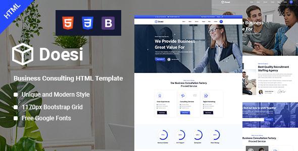 Marvelous Doesi-Business HTML Template