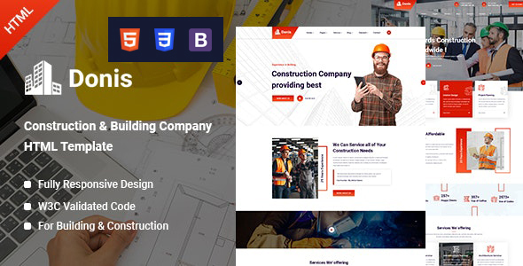 Great Donis - Construction HTML Template