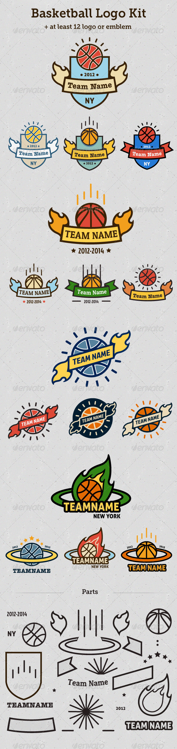 Basketball Logo Kit - Objects Logo Templates