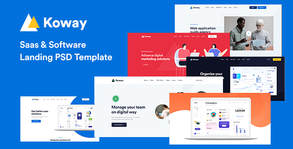 Koway - Saas & Software Landing PSD Template