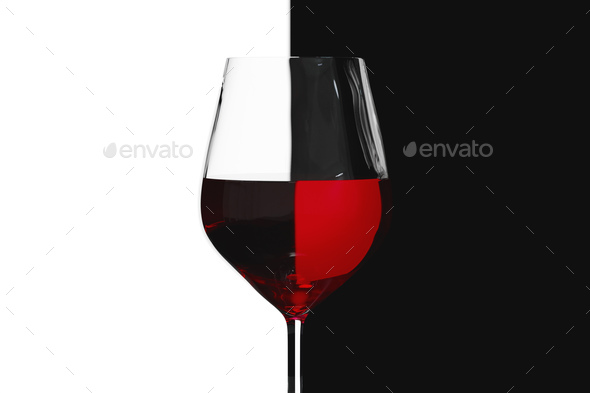red wine wineglass light refraction - Stock Photo - Images