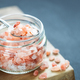 Pink Himalayan Salt in Glass Jar. - PhotoDune Item for Sale