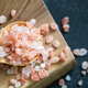 Top View on Pink Himalayan Salt in Wooden Spoon. - PhotoDune Item for Sale