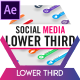 Circle Social Media Lower Thirds - VideoHive Item for Sale