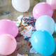 The mess after the birthday celebration with balloons and confetti on the floor - PhotoDune Item for Sale