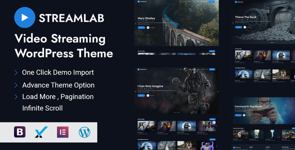 Download Streamlab - Video Streaming WordPress Theme Free Nulled