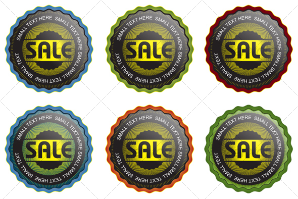 6 Vector Seals set 2  - Decorative Symbols Decorative