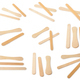 Set of Wooden ice cream sticks on white background - PhotoDune Item for Sale