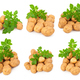 Yellow potatoes with leaves on a white - PhotoDune Item for Sale