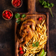 Half roasted chicken Piri Piri with french fries - PhotoDune Item for Sale