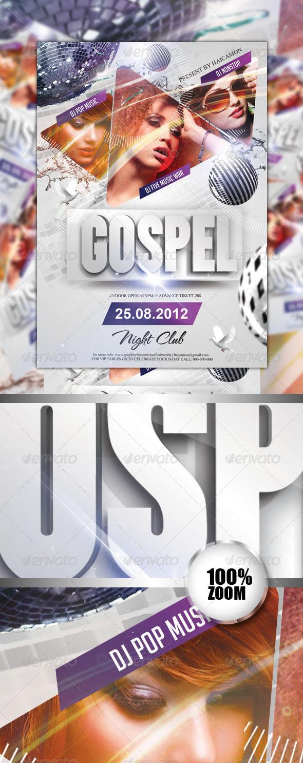 Gospel Party Flyer Vol 2 - Flyers Print Templates