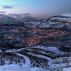 Mountainous Town in Winter - PhotoDune Item for Sale