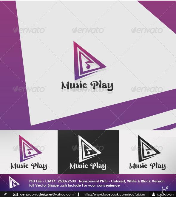 Music Play Logo Template - Symbols Logo Templates