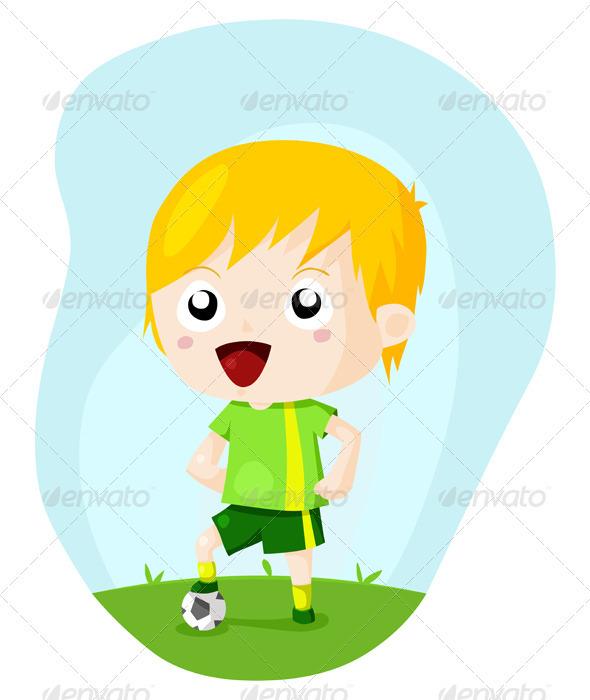 Soccer Kid  - Sports/Activity Conceptual