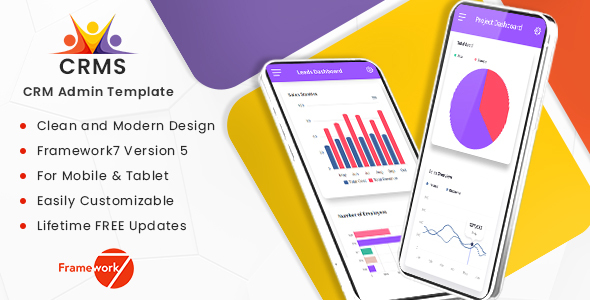 CRMS – Framework7 Mobile Template