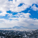 Athens Greece covered with snow panorama, sunny winter day, cloudy sky background - PhotoDune Item for Sale