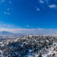 Athens Greece covered with snow panorama, sunny winter day, blue sky background - PhotoDune Item for Sale