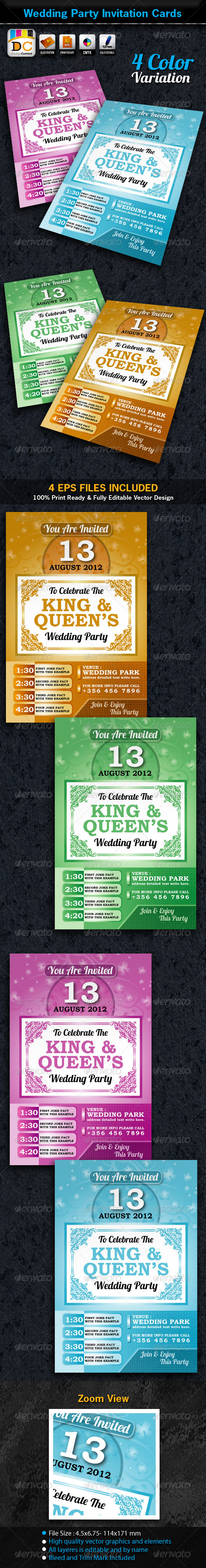 Wedding Party Invitation Card Sets - Weddings Cards & Invites