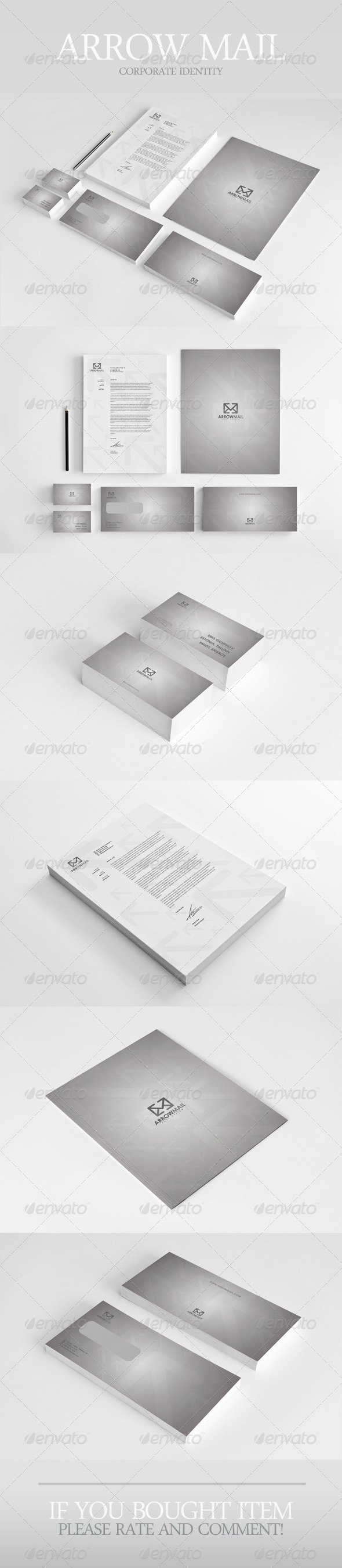 Arrow Mail Corporate Identity - Stationery Print Templates
