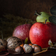 nuts and fruits with foliage - PhotoDune Item for Sale